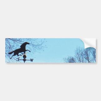Horse Weather Vane Blue Sky Bumper Sticker