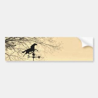 Horse Weather Vane sepia Bumper Sticker