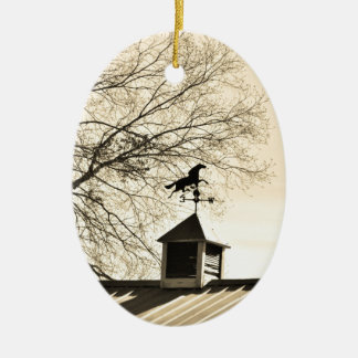 Horse Weather Vane sepia Christmas Ornament