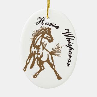 Horse Whisperer Ceramic Oval Decoration