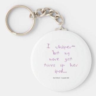 Horse Whisperer: Mare with Ipod Basic Round Button Key Ring