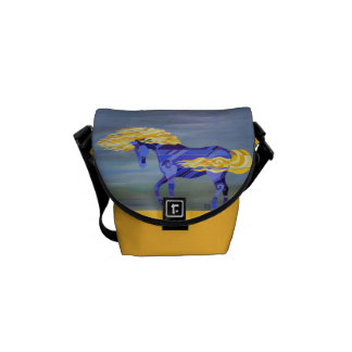 Horse with Flowing Mane Messenger Bag by Barbara