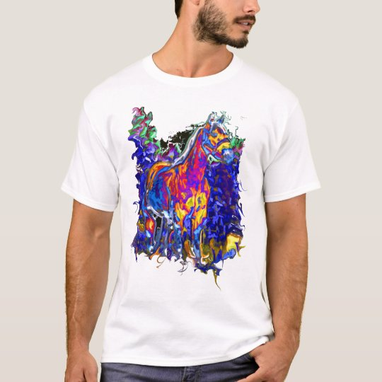 Horse with Galloping Colours T-Shirt