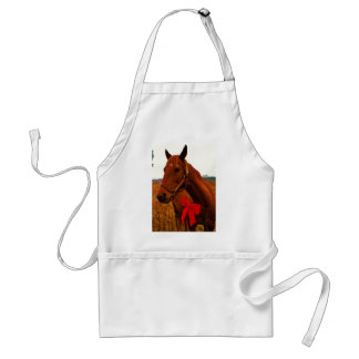 Horse with Red Bow Aprons