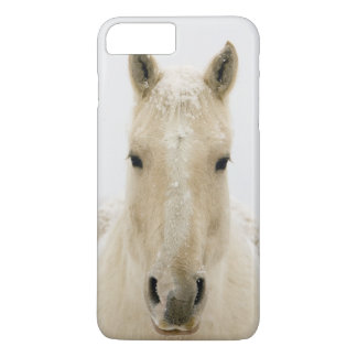 Horse with snow on head iPhone 8 plus/7 plus case