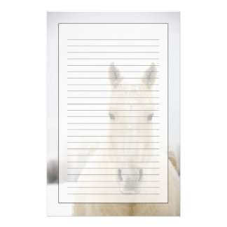Horse with snow on head stationery
