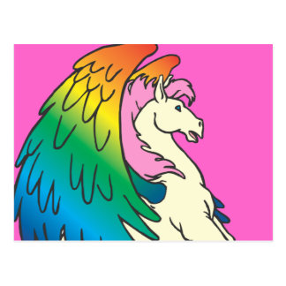 Horse with the Rainbow Wings Postcard