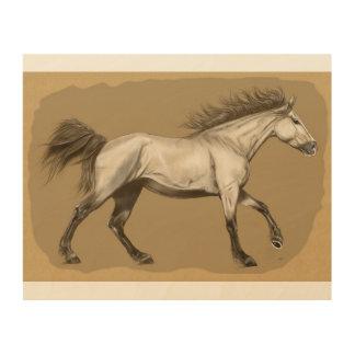 "Horse Wood Wall Art 10""x 8"""
