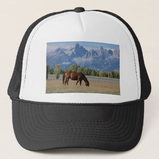 Horse, Wyoming Ranch Trucker Hat