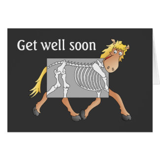Horse x-ray card, get well soon greeting card