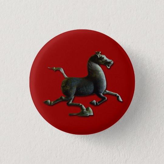 Horse Year Chinese Astrology Zodiac Sign Button