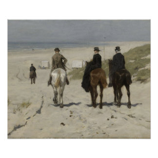 Horseback Ride along the Beach- Art Poster