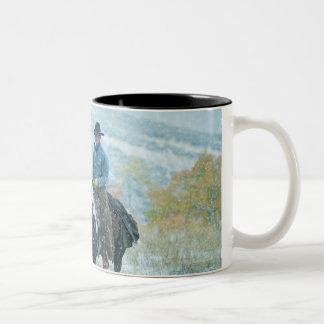 Horseback rider 19 Two-Tone mug