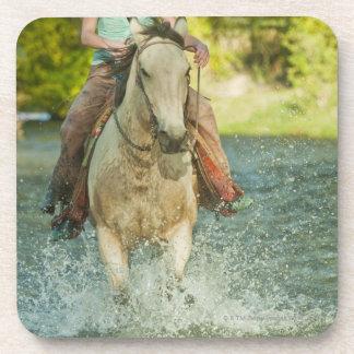 Horseback rider 21 beverage coaster