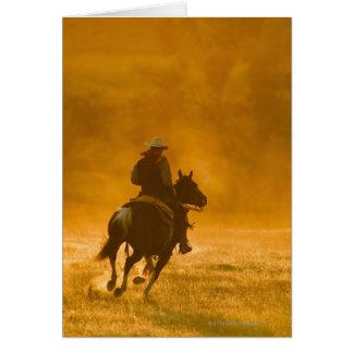 Horseback rider 3 greeting card
