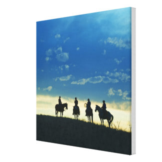 Horseback riders 6 canvas print