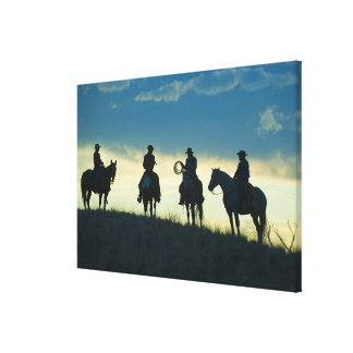 Horseback riders 7 canvas print