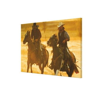 Horseback riders canvas print