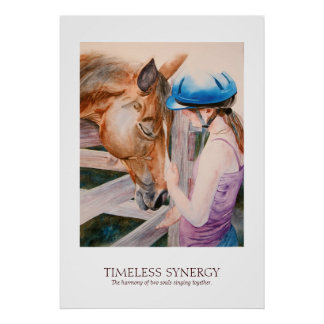 Horseback Riding Equestrian Synergy Partner Poster