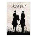 Horseback Riding Equestrian Wedding RSVP Card Invitations