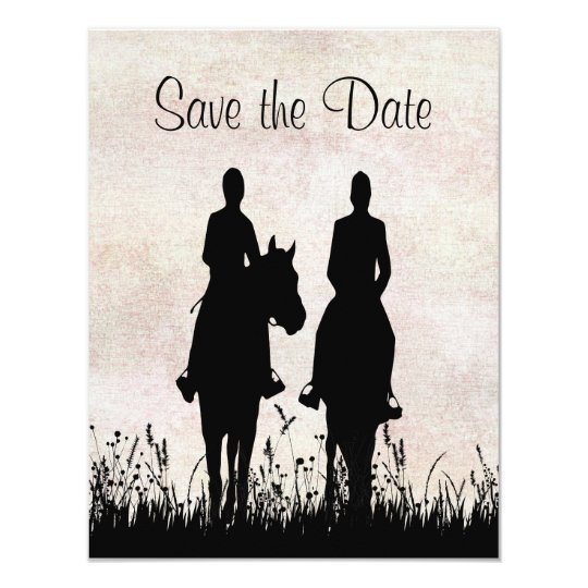 Horseback Riding Equestrian Wedding Save the Date Card