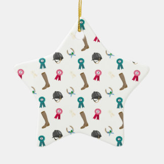 Horseback Riding in a modern style Christmas Ornament