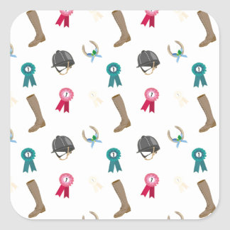 Horseback Riding in a modern style Square Sticker