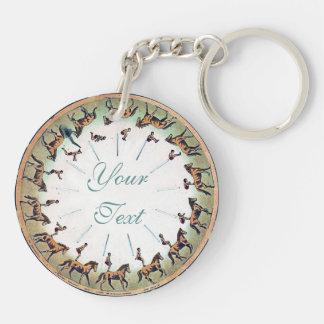 Horseback Sommersault Key Ring