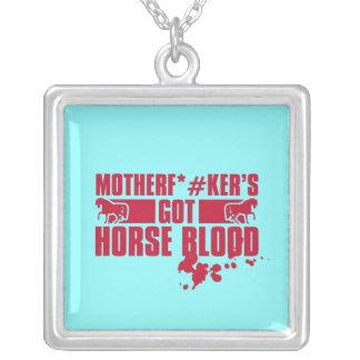 Horseblood Square Pendant Necklace