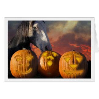 HorseHaloween Greeting Card