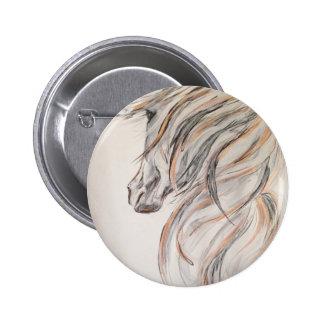Horsehead 6 Cm Round Badge
