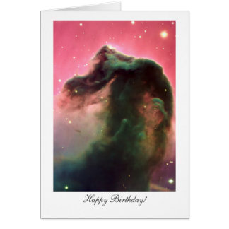 Horsehead Nebula - Happy Birthday Greeting Card