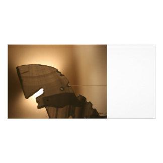 Horsehead shaped windchime photo greeting card