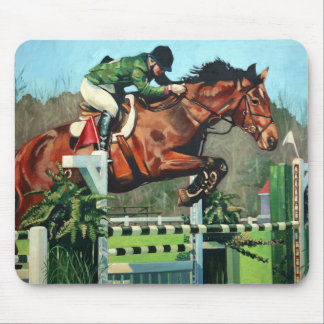 HorseJump highres Mouse Mats