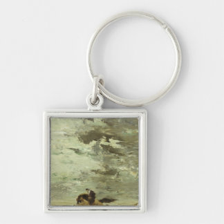 Horseman Silver-Colored Square Key Ring