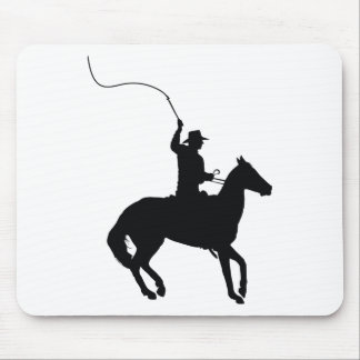 Horseman with Whip Mousepads