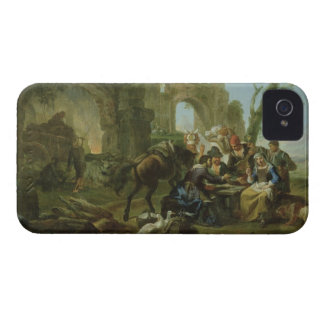 Horsemen Resting among Classical Ruins with a Fort iPhone 4 Case-Mate Case