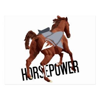 horsepower postcard