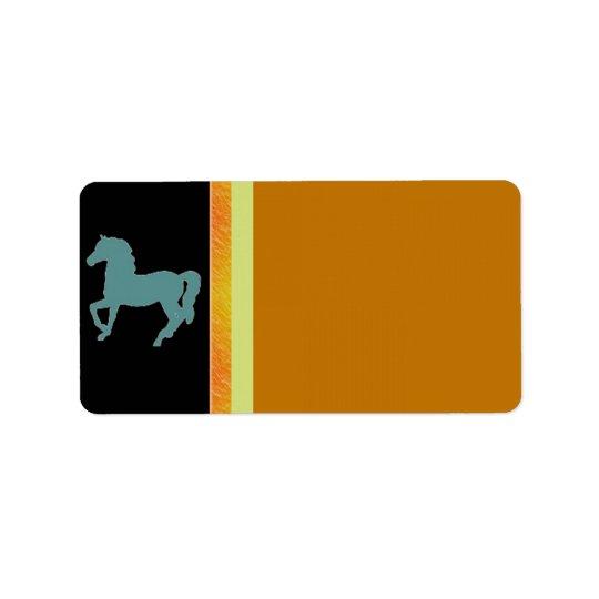 Horses Address Label