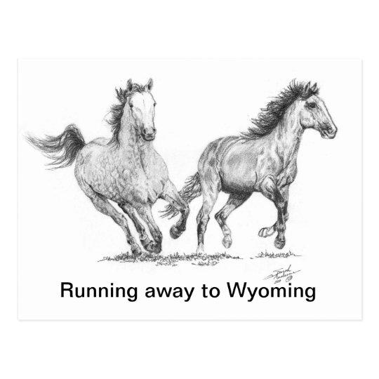 Horses Again FINAL 11 x 16.jpg, Running away to... Postcard
