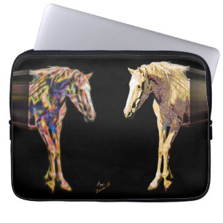 Horses and Digital art Laptop Sleeve