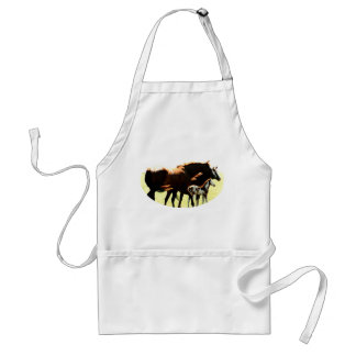 Horses and Foal Picture Standard Apron