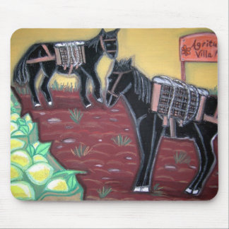 Horses and Lemons Mouse Mat