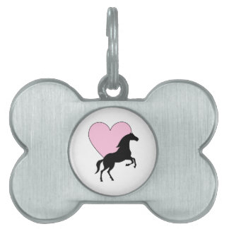 Horses and Love Pet ID Tag