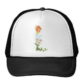 horses and seasons mesh hat