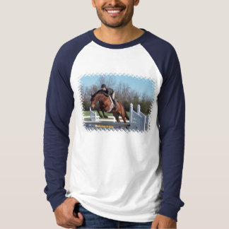 Horses and Show Jumping Men's Long Sleeve T-Shirt