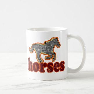 horses animal farm country style basic white mug