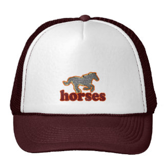horses animal farm country style cap