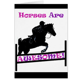 Horses Are Awesome Greeting Card