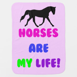 Horses Are My Life! Buggy Blankets
